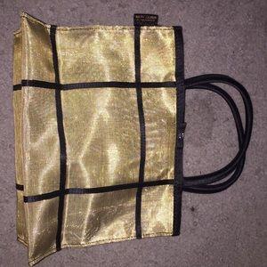 Ralph Lauren gold sheer handbag